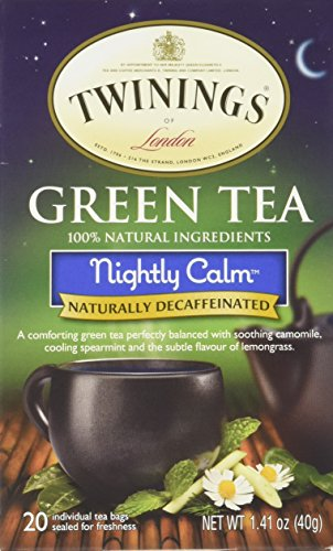 Twinings Nightly Calm Green Tea, 20 Tea Bags (Tea Green Twining Bags)