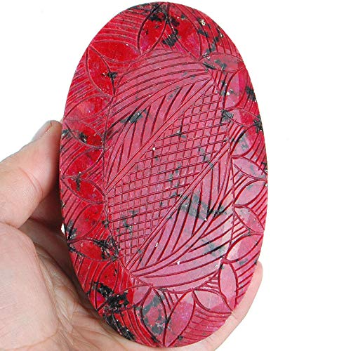 - 3582 Cts Certified Natural Ruby Pigeon Blood Red Huge Gemstone - Moghul Carving