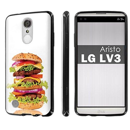 LG [Phoenix 3] [Fortune] [Aristo] [LV3] [NakedShield] [Black] Ultra Slim Cover Case [Screen Protector] - [Hamburger] for LG [Phoenix 3] [Fortune] [Aristo] 5