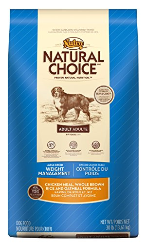 Nutro NATURAL CHOICE Large Breed Weight Management Chicken Dry Dog Food, 30 lbs.