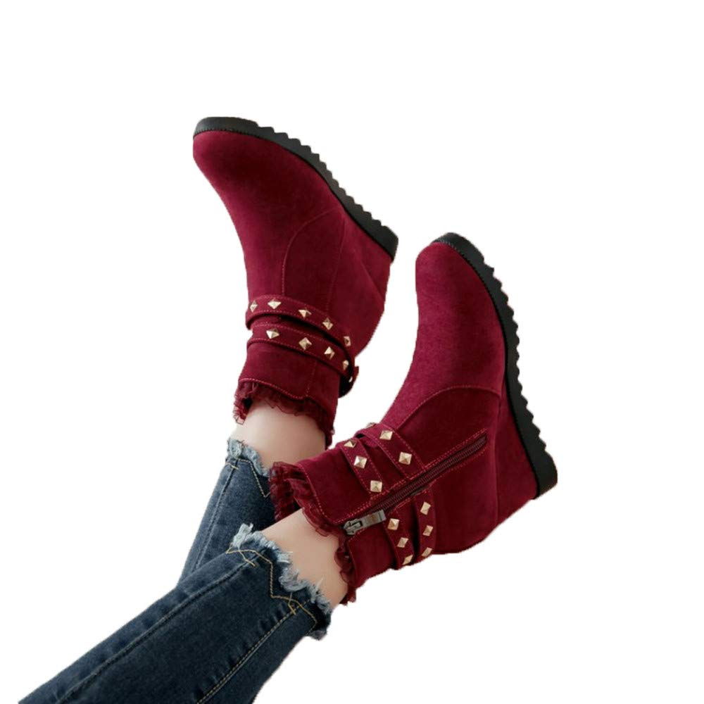 Clearance for Shoes,AIMTOPPY Classic Ladies' High-Rise Lace Side Zipper Women's Boots by AIMTOPPY Shoe (Image #2)