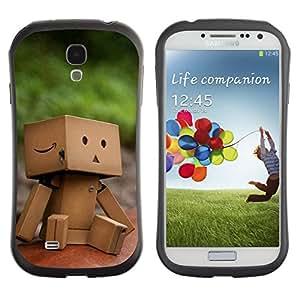 Pulsar iFace Series Tpu silicona Carcasa Funda Case para SAMSUNG Galaxy S4 IV / i9500 / i9515 / i9505G / SGH-i337 , Cute Paper Box Man