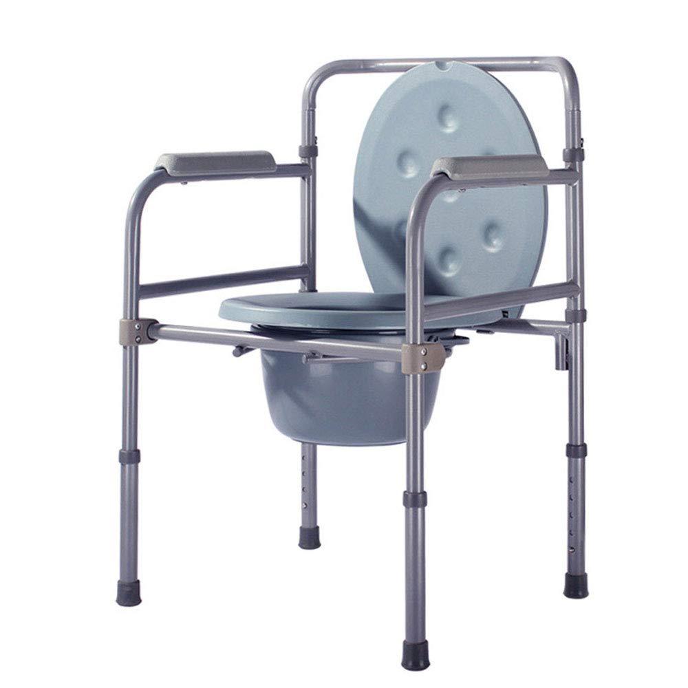 Mrtie Multifunktions-Kommodenstuhl, alter Mann, Dringlichkeitsstuhl für Personen mit eingeschränkter Mobilität, klappbare höhenverstellbare mobile Toilette für Schwangere, Toilettenbooster, Bad-Duschs