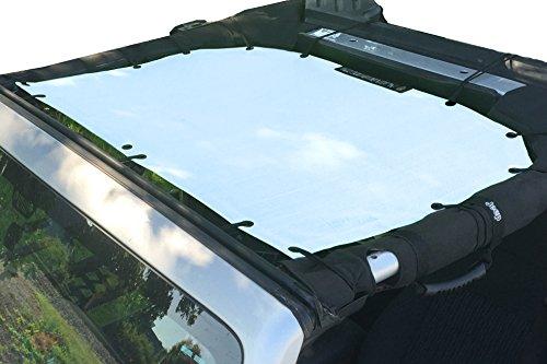Alien Sunshade Jeep Sunshade Mesh Top Jeep Wrangler 2-Door JK 4-Door JKU 2007-2018 - 10 Year Warranty Front Jeep Top White