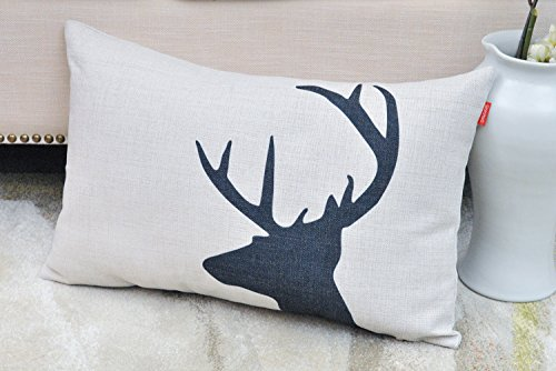 Shinnwa Deer Polyester Throw Pillow Cases Decorative Cushion Covers for Bed, 12