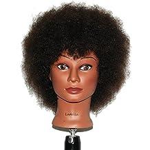 Ladella Beauty Cosmetology Mannequin Afro Head 100% Human Hair Hairdresser Training Head Manikin Doll Head - KEIRA