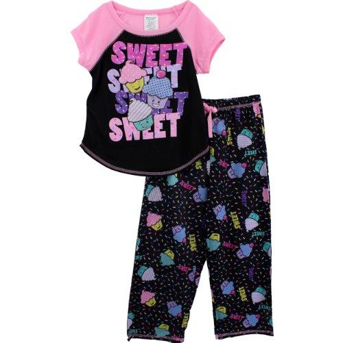 Komar Kids Sweet Girls Black Pajamas Set (Little Kid/Big Kid)