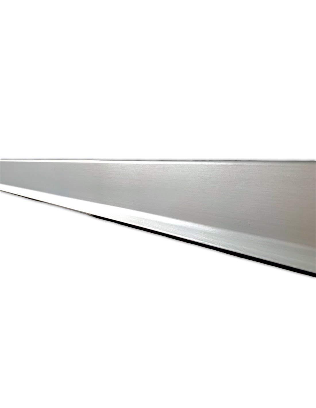 3m larg Rodapie Aluminio Labio Inferior Plata 3m Jardin202 70mm alt
