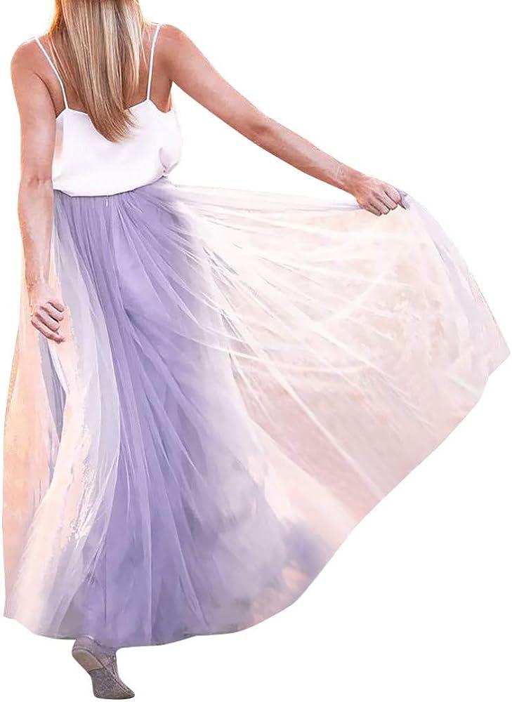QIjinlok Falda Tul Mujer Midi Elegante Fiesta Vintage Falda de ...