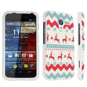 DuroCase ? Motorola Moto X (2013 Released, 1st Gen) Hard Case White - (Christmas Winter)