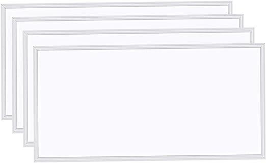 12PCS 2x4 LED Flat Panel Light, 5000K Daylight White 75W, 7800LM, Dimmable 0-10V,Drop Ceiling LED Light Fixture,Recessed Edge-Lit 2x4 LED Troffer