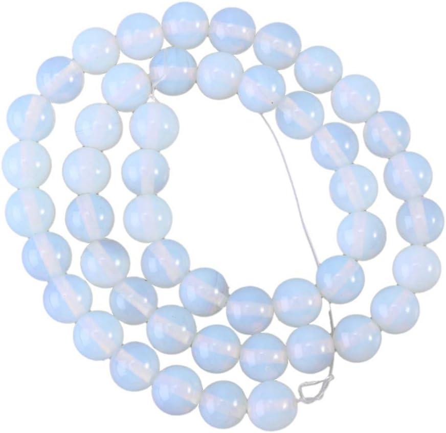EXCEART Cuentas de piedras preciosas de 8 mm cuentas de cristal redondo cuentas sueltas cuentas de piedra natural diy pulsera collar accesorios
