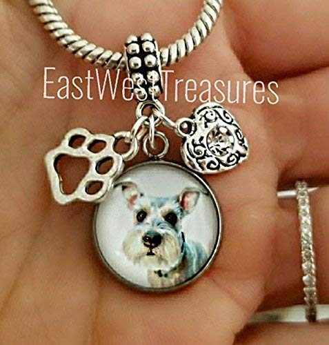 (Schnauzer Scottish terrier dog Charm bracelet and necklace-Schnauzer Scottish terrier Jewelry gifts-Your own dog photo Picture charm)