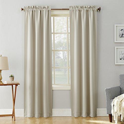 Sun Zero Easton Blackout Rod Pocket Curtain Panel, 40