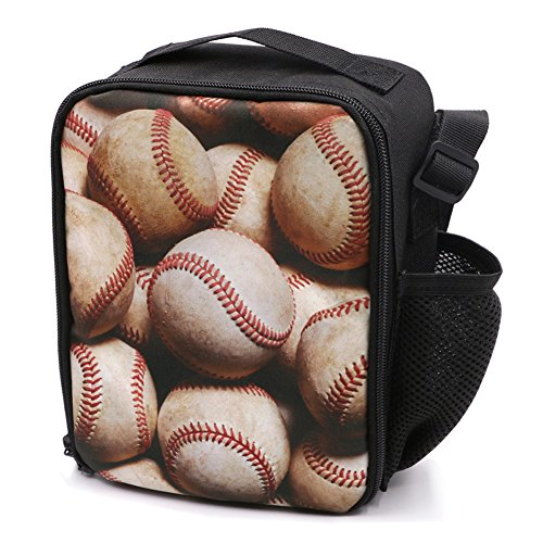 JBS-No.1 Kids Lunch Box for Teen Girls Boys - Baseball Mini Insulated Lunch Bag for School (Kids Baseball Lunch Box)