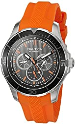 Nautica Men's NAD13519G NST 10 Analog Display Quartz Orange Watch