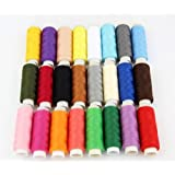 RayLineDo 24 Colour Spools Sewing All Purpose 100% Pure Cotton Thread Reel