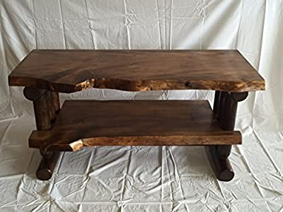 Rustic Log Pine and Cedar Tv Stand Entertainment Center