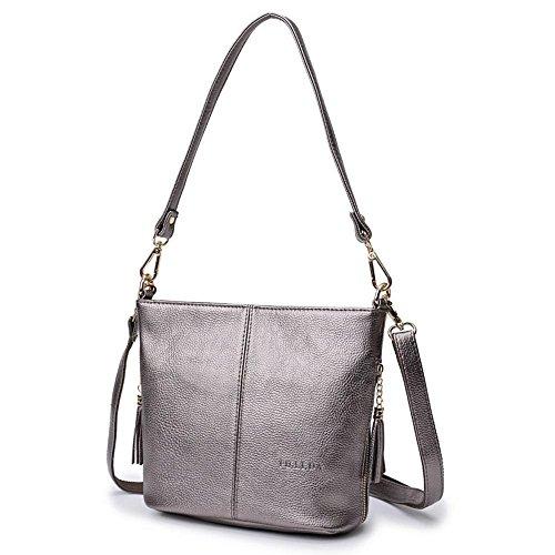 Aoligei Femme sac Lady sac à bandoulière version coréenne gland sac seau marée besace portable en mode simple D