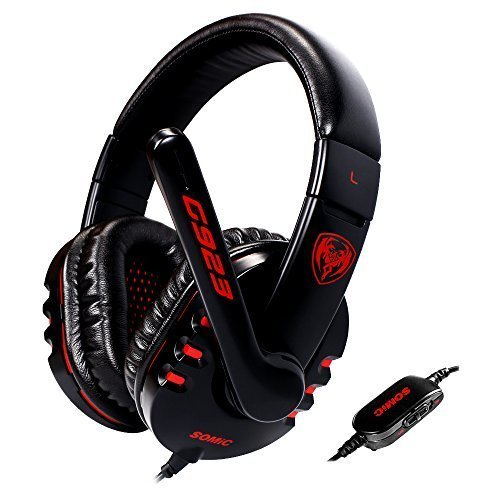 Somic G923 Stereo Pc Gaming Headphone Headset with Microphone (Black)