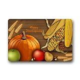 """Custom Machine-washable Door Mat Happy Thanksgiving Indoor/Outdoor Decor Rug Doormat 23.6""""(L) x 15.7""""(W)"""