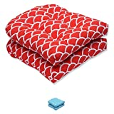Pillow Perfect Outdoor Sunny Wicker Seat Cushion, Red, Set of 2 Review