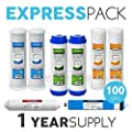 Express Water Reverse Omosis Replacement Filter Kit Under Sink Water Filter Cartridges With 100 Membrane