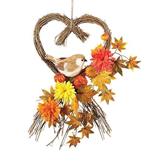 Autumn Harvest Heart Swag