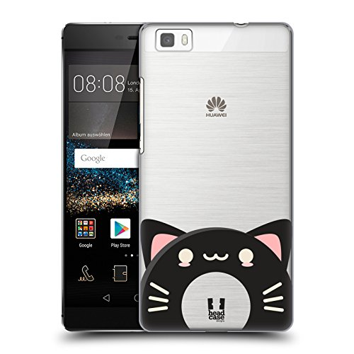 Head Case Designs Black Cat Kawaii Animal Donuts Hard Back Case for Huawei P8lite / ALE-L21