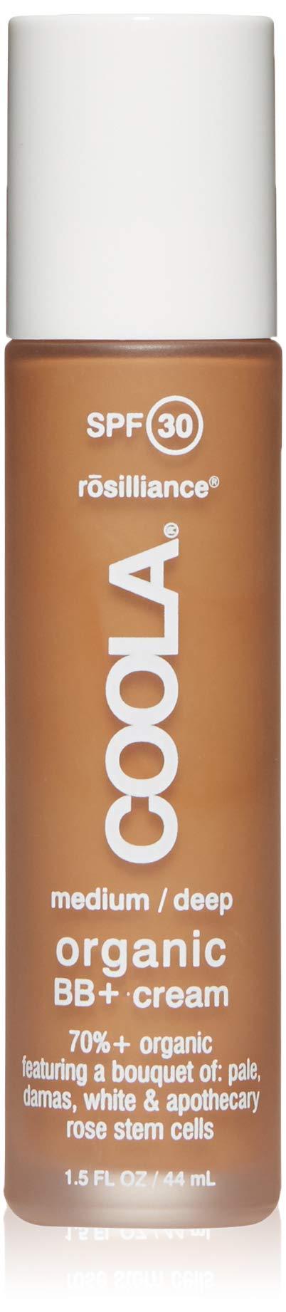 COOLA Rosilliance Mineral BB+ Cream Tinted Organic Sunscreen | Broad Spectrum SPF 30 | Vegan | Water-Resistant | Ultra-Moisturizing | Antioxidant Enriched | Medium Deep