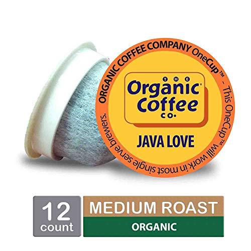 (The Organic Coffee Co. OneCup, Java Love, Single Serve Coffee K-Cup Pods (12 Count), Keurig Compatible)