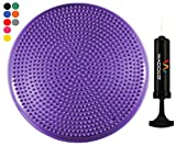 Wacces Inflatable Stability Balance Disc with Smart Pump, ( Purple )