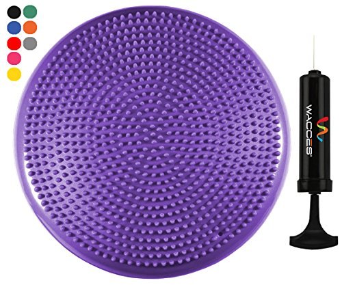 Wacces Inflatable Stability Balance Disc with Smart Pump, ( Purple - Store Wcs