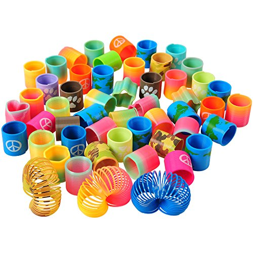 U.S. Toy Mini Coil Spring Assortment / 52-pc set
