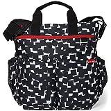 Skip Hop Duo Cubes Signature Diaper Bag, Black/White