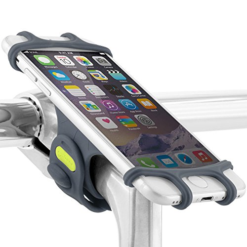 Universal Bike Phone Mount, Bicycle Stem Handlebar Cell Phone Holder for iPhone 8 7 6S Plus 5 SE Samsung Galaxy S8 S7 Note 6, 4 to 6 Inch Smartphone, Bike Tie Pro Series - Dark Blue (Best Iphone 6 Mount For Bike)