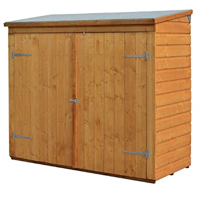 Bosmere WS1881H Rowlinson Wallstore Wooden Outdoor/Garden Lockable Storage Unit with Double Doors, Honey-Brown Finish