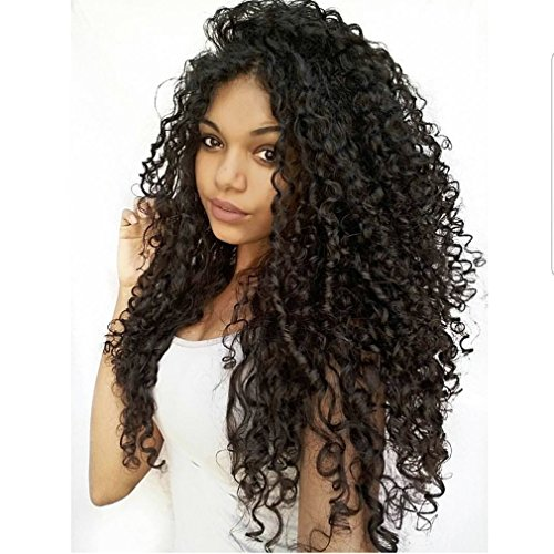 Clip in Human Hair Extensions Brazilian Jerry Curly African 3C 4A Natural Black Hair Extensions (12 inch, Jerry Curly)