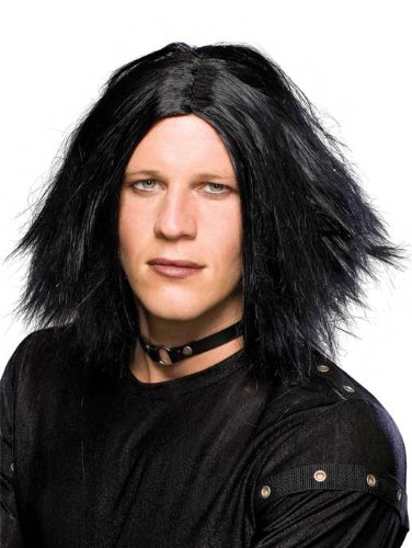 [Rubie's Costume Emo Dark Lord Wig, Black, One Size] (Emo Rocker Costume)