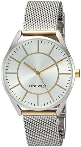Nine West Women's NW/1922 Mesh Bracelet Watch 1