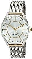 Nine West Women's NW/1923SVTT Two-Tone Mesh Bracelet Watch