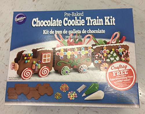 Wilton Pre-Baked Chocolate Cookie Train Kit by Wilton