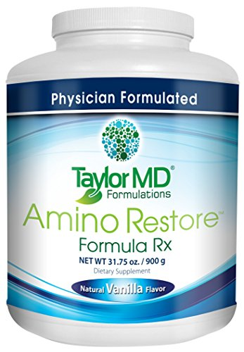 AminoRestore - Vanilla Flavor - Amino Acid Formula Rx - Essential Workout, Weight Loss Supplement – Provides Nutrients, Vitamins, Minerals – Optimise Metabolism, Energy, Body Composition & Gut Health – Suitable for Vegetarians & Dairy Free - Guarant by Taylor MD
