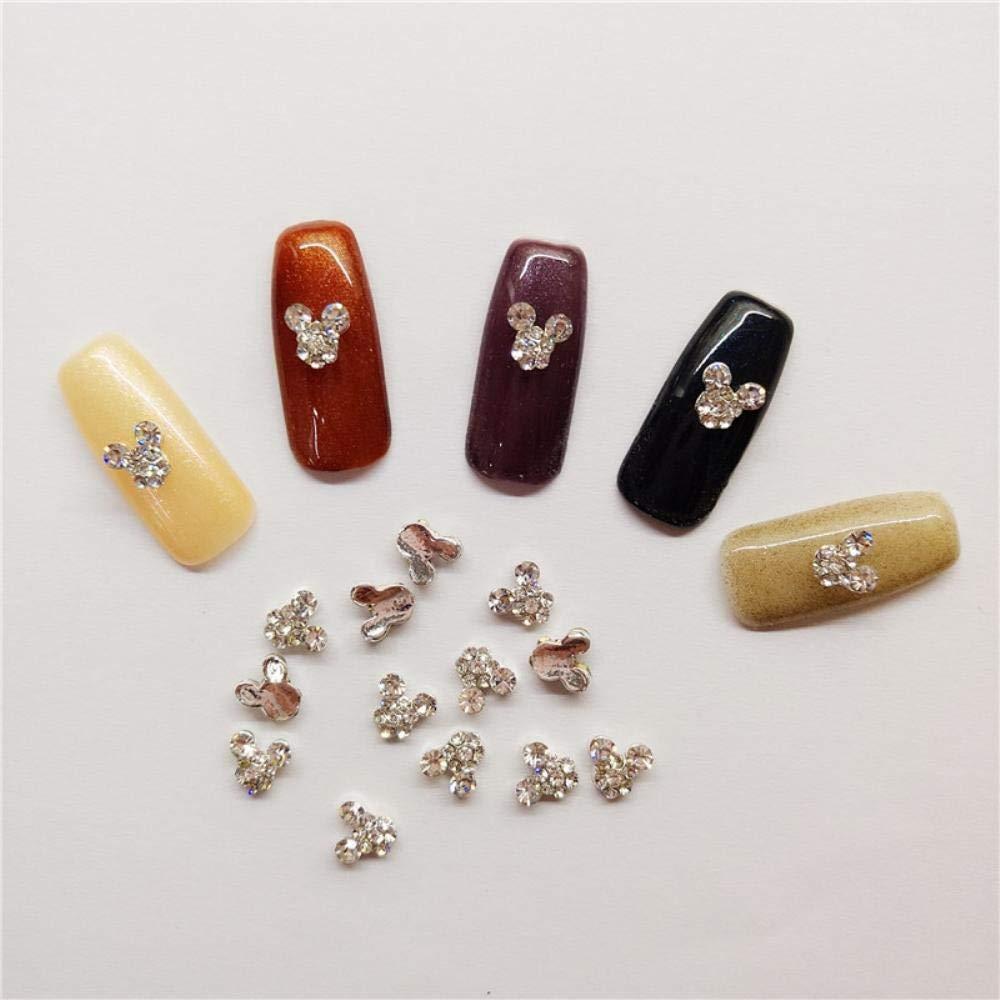 Amazon.com  10 PCS bag In 3D Nail Art Rhinestone Charm Mickey Mouse On Adornment  Sparkling Rhinestone Nail Supplies  Beauty 882967c42160