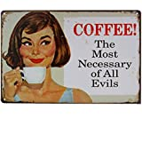 Imported COFFEE Vintage Tin Sign Bar Pub Cafe Wall Decor Retro Metal ART Poster 06