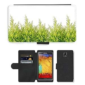PU LEATHER case coque housse smartphone Flip bag Cover protection // M00153206 Antecedentes Sola rama de Navidad // Samsung Galaxy Note 3 III N9000 N9002 N9005
