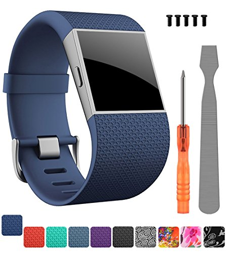 Wrist Strap Original (CreateGreat For Fitbit Surge Bands, Replacement Band Strap for Fitbit Surge Watch Fitness Tracker Original Wrist Band Accessories Small&Large)