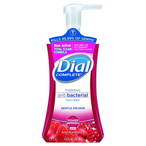 Dial 03016 Antibacterial Foaming Hand Wash, Power Berries, 7.5 oz Pump Bottle (Case of ()
