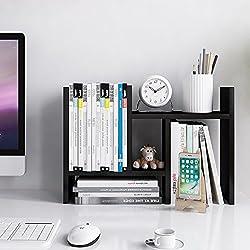 Jerry & Maggie - Desktop Organizer Office Storage Rack Adjustable Wood Display Shelf - free style double H display - True Natural Stand Shelf