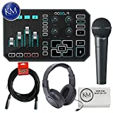 TC-Helicon GO XLR Broadcast Platform + Behringer XM8500 Microphone + Headphones + 20ft XLR Cable + K&M Cloth
